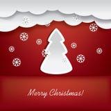 Kerstkaartontwerp Stock Illustratie