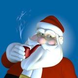 Kerstman 2010 - Pijp stock illustratie