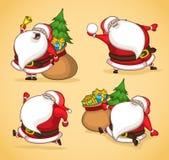 Kerstman in actie Royalty-vrije Stock Foto