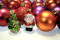Kerstman & de decoratie van Kerstmis royalty-vrije stock foto's