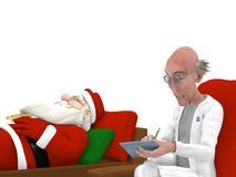 Kerstman bij de Psycholoog royalty-vrije illustratie