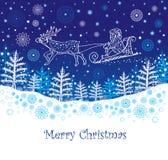 Kerstman bij Kerstmis Stock Foto