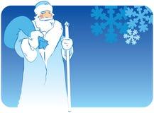 Kerstman in blauwe kleding Stock Fotografie
