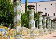 Kerstman Chiara Monastery - Napels royalty-vrije stock foto