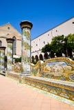 Kerstman Chiara Monastery - Napels royalty-vrije stock afbeelding