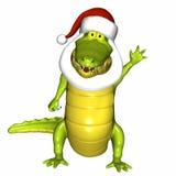 Kerstman Croc stock illustratie