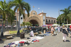 Kerstman Cruz DE Tenerife Stock Afbeelding