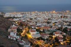 Kerstman Cruz DE Tenerife bij schemer royalty-vrije stock foto's