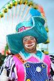 Kerstman Cruz DE Tenerife Carnaval: Clown Royalty-vrije Stock Foto