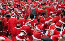 Kerstman dag Londen 21 December 2014 Stock Afbeeldingen