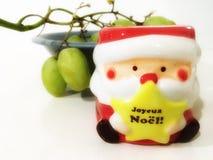 Kerstman, de druif Stock Foto's