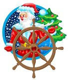 Kerstman de Zeeman Royalty-vrije Stock Foto