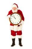Kerstman: Dicht bij Middernachtkerstmis Eve Midnight Royalty-vrije Stock Foto's
