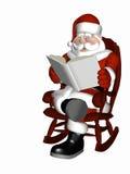 Kerstman die 5 ontspannen vector illustratie