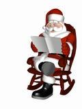 Kerstman die 6 ontspannen royalty-vrije illustratie