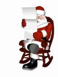 Kerstman die 7 ontspannen royalty-vrije illustratie