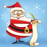 Kerstman die de Lijst van de Wens schrijven Royalty-vrije Stock Afbeelding