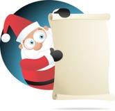 Kerstman die Document houden Stock Fotografie