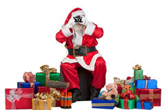 Kerstman die een momentopname nemen stock foto