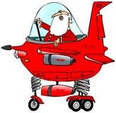 Kerstman die een starship loodsen Royalty-vrije Stock Fotografie