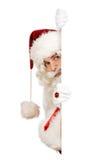 Kerstman die grens verbergen Stock Afbeelding