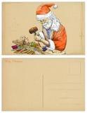 Kerstman die Pinocchio maken Stock Afbeelding