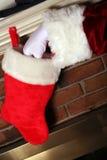 Kerstman die Stiekem zijn Stock Foto's