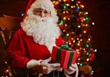 Kerstman door spar Royalty-vrije Stock Fotografie