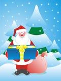 Kerstman in een hout Stock Afbeeldingen