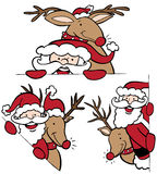 Kerstman en de Reeks van het Rendier Stock Fotografie