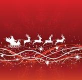 Kerstman en deers. Stock Afbeeldingen