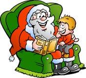 Kerstman en een kleine jongen Royalty-vrije Stock Afbeelding