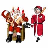Kerstman en Helper 2 Stock Afbeeldingen