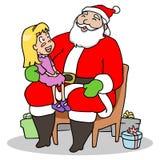 Kerstman en Kind Stock Afbeelding