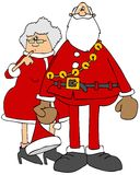 Kerstman en ornamenten Mrs claus stock illustratie