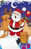 Kerstman en reno Royalty-vrije Stock Fotografie