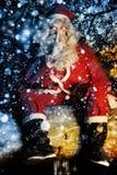 Kerstman en Sneeuw stock afbeelding