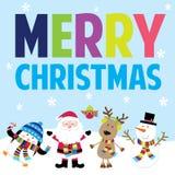 Kerstman en vrienden stock afbeelding