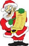 Kerstman en Zijn Lijst Stock Afbeelding