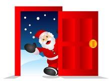 Kerstman in het huis Royalty-vrije Stock Afbeeldingen