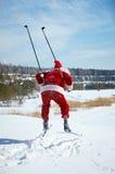 Kerstman het ski?en Royalty-vrije Stock Afbeelding