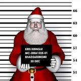 Kerstman - Inbraak 1 Royalty-vrije Stock Foto's