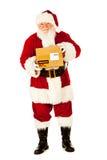 Kerstman: Klaar om Kerstmisgiften te verschepen Royalty-vrije Stock Afbeeldingen