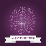 Kerstman Klaus, hemel, vorst, zak Royalty-vrije Stock Afbeeldingen