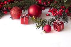 Kerstman Klaus, hemel, vorst, zak stock fotografie