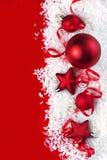 Kerstman Klaus, hemel, vorst, zak royalty-vrije stock fotografie