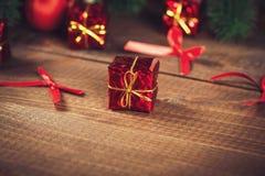 Kerstman Klaus, hemel, vorst, zak Stock Foto