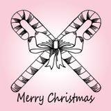 Kerstman Klaus, hemel, vorst, zak Stock Afbeelding
