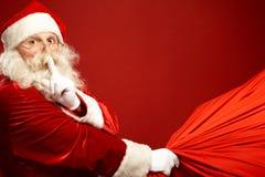 Kerstman komst stock afbeelding