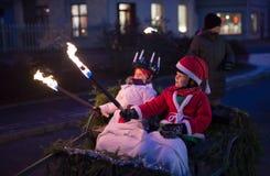 Kerstman Lucia Celebration Royalty-vrije Stock Afbeeldingen